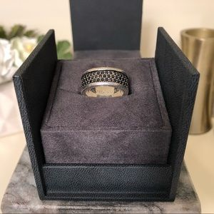 David Yurman Pave 3 Row Black Diamond Band